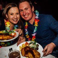 schnitzel n tits luau party