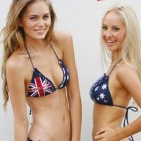 aussie bikini girls blonde brunette