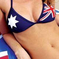 aussie bikini girls close up