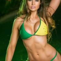 green gold aussie bikini