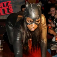 cat women table crawl