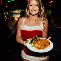 Waitress at Christmas Time