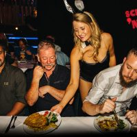 schnitzel n tits march bunnies waitress